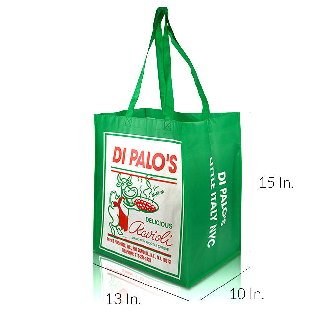 "Extra Large Laminated Non Woven Shopping Bags With Handles 13""W X 10""H X 15""D - Dimensions - Prime Line Packaging"