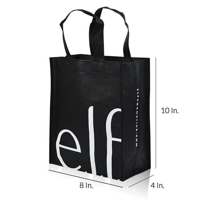 "Reusable Shopping Bags With Handles Custom Printing 80GSM PPNW - 8""W X 10""H X 4""D"