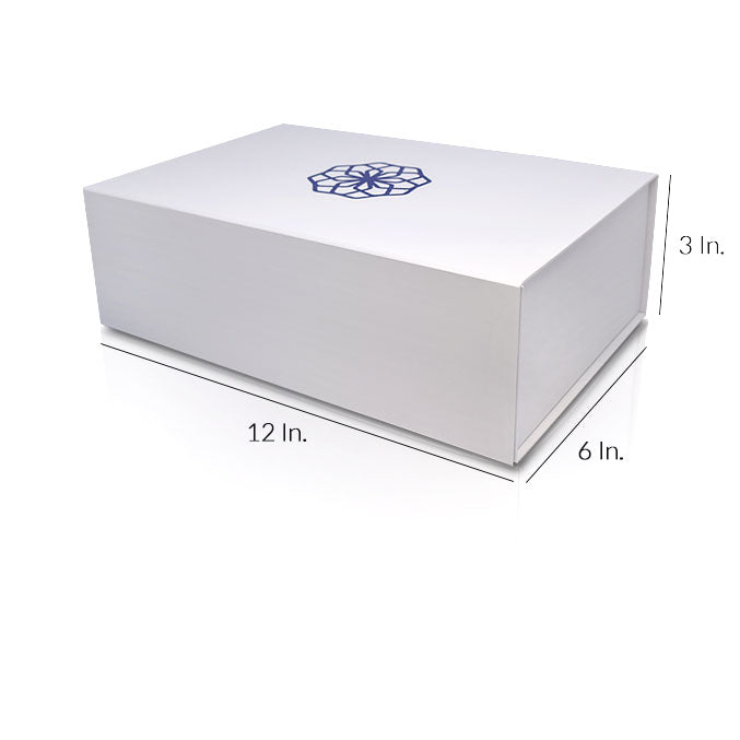 "Rigid Collapsible Printed Gift Box With Lamination - 12""W X 6""L X 3""H"