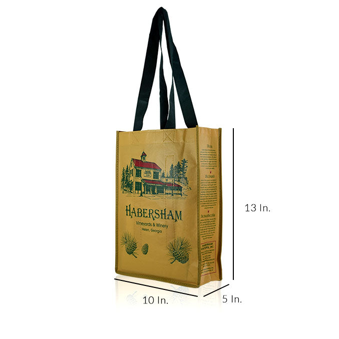 "Reusable Fabric Shopping Bags With Handles Custom Printing 80GSM PPNW - 10""W X 13""H X 5""D"