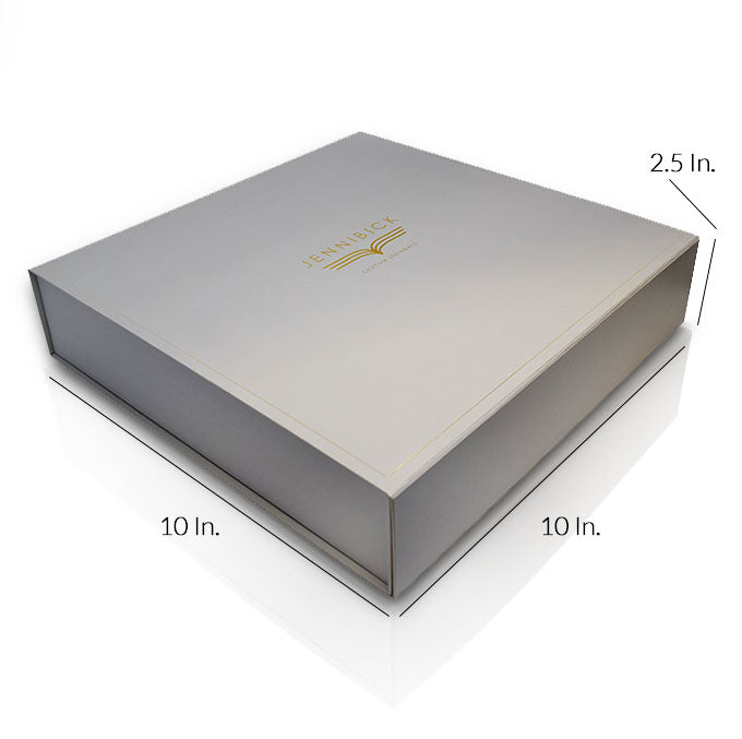 "Rigid Collapsible Printed Gift Box With Lamination - 10""W X 10""L X 2.5""H"