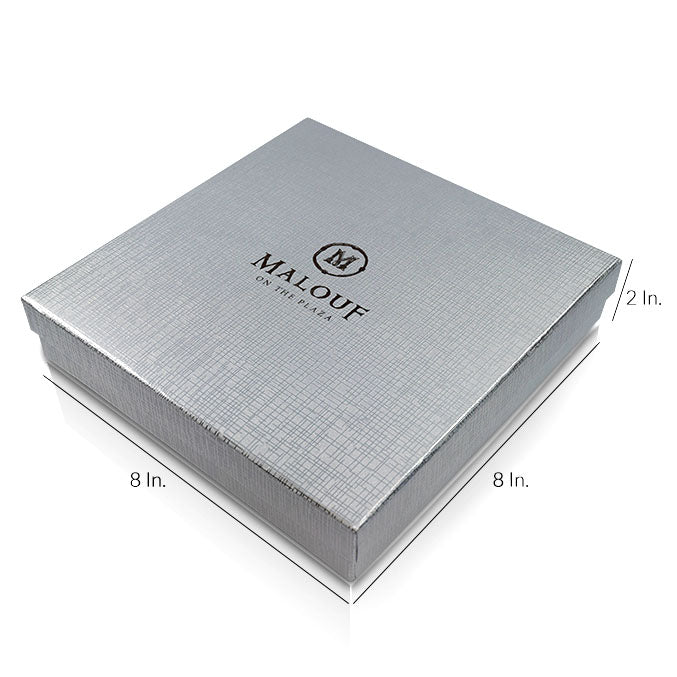 "Rigid 2 Piece Box With Base And Lid With Lamination - 8""W X 8""L X 2""H"
