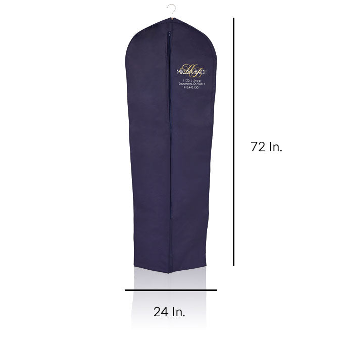 "Zippered Garment Bags Reusable Fabric Custom Printing - 24""W X 72""L X 10"" Gusset"