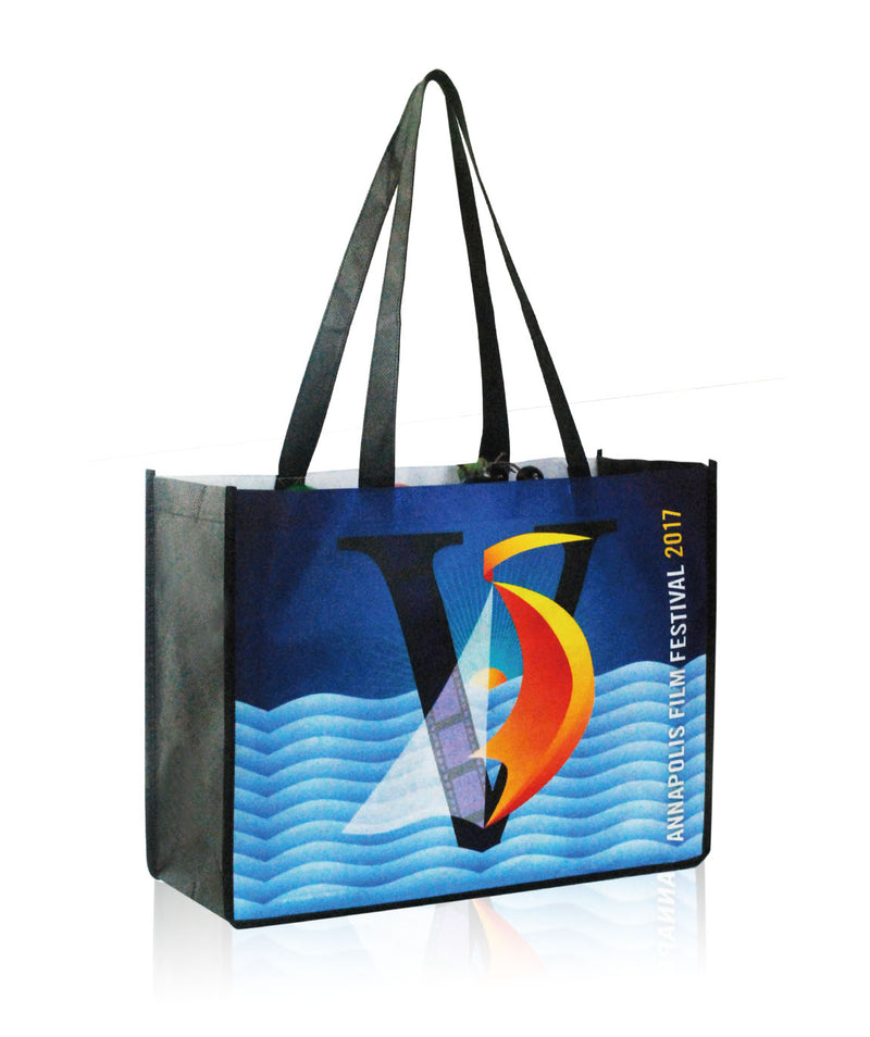 "Reusable Promotional Bags Custom Printing - 16""W X 12""H X 6""D"