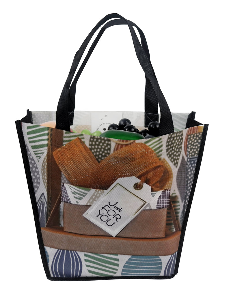 "Reusable Fabric Tote Bags Bags With Printing - 8""/12""W X 10""H X 4""D"