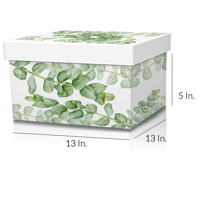 "Rigid 2 Piece Box With Base And Lid With Lamination 13""W X 13""L X 5""H - Dimensions - Prime Line Packaging"