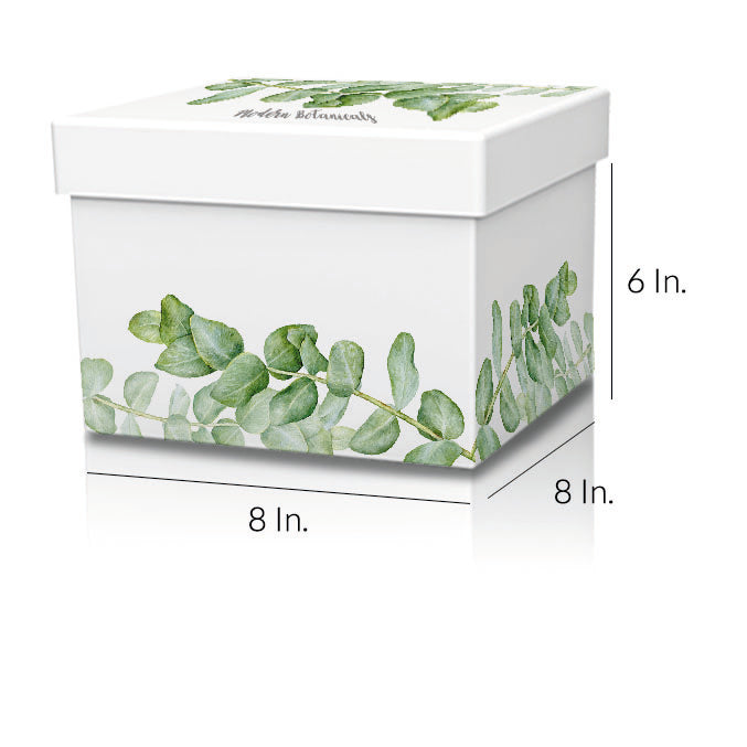 "Rigid 2 Piece Box With Base And Lid With Lamination 8""W X 8""L X 6""H - Dimensions - Prime Line Packaging"