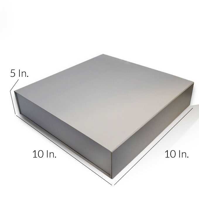 "Rigid Collapsible Printed Gift Box With Lamination 10""W X 10""L X 5""H - Dimensions - Prime Line Packaging"