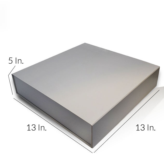 "Rigid Collapsible Printed Gift Box With Lamination 13""W X 13""L X 5""H - Dimensions - Prime Line Packaging"