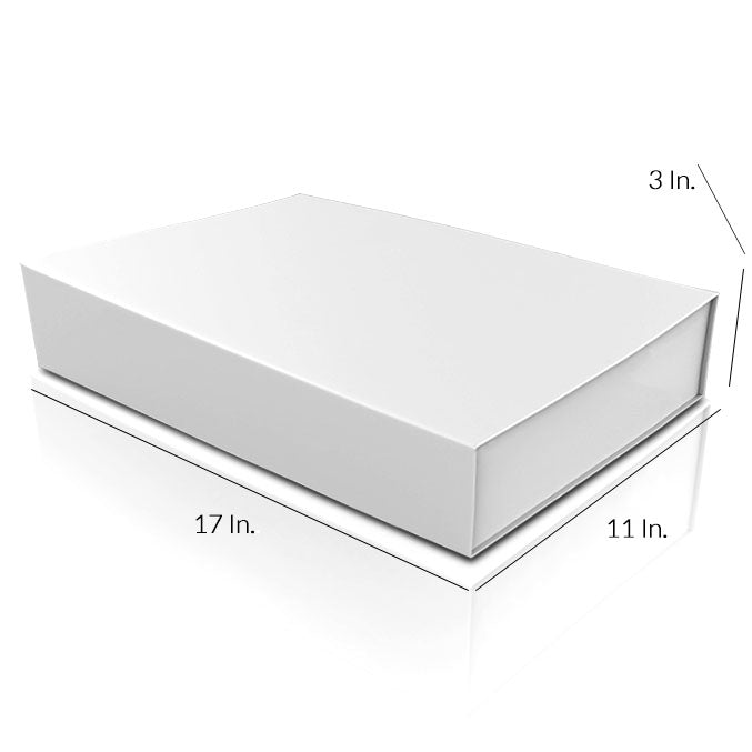 "Rigid Collapsible Printed Gift Box With Lamination - 17""W X 11""L X 3""H"