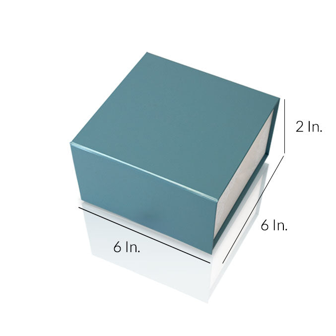 "Rigid Collapsible Printed Gift Box With Lamination 6""W X 6""L X 2""H - Dimensions - Prime Line Packaging"