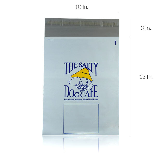 "Custom Printed Poly Mailers 2.5 Mil 10""W X 13""H - Dimensions - Prime Line Packaging"