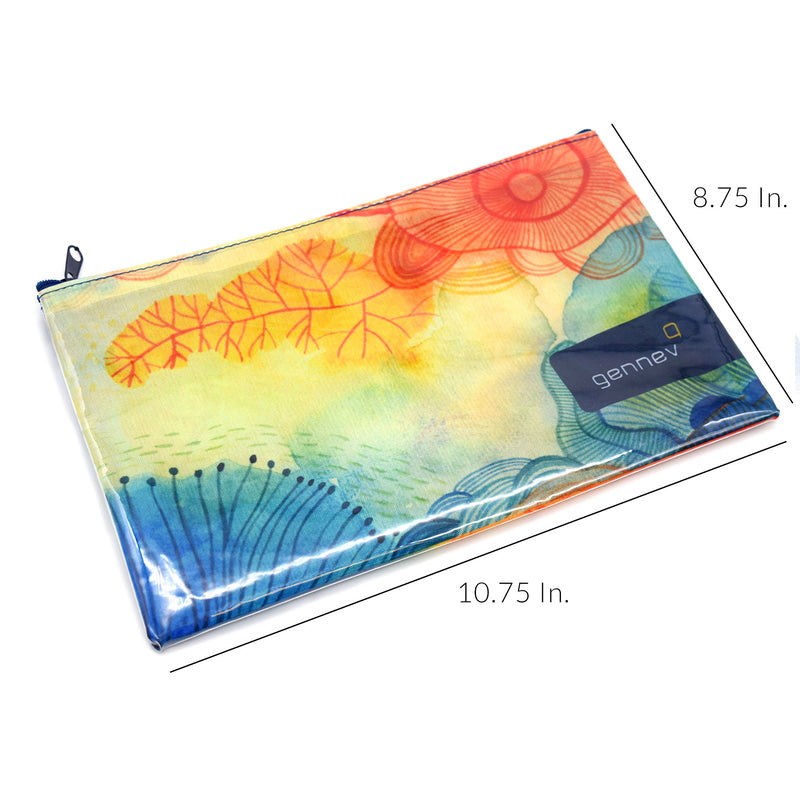 "10.75""W X 8.75""H Custom Printed Zippered Pouches"