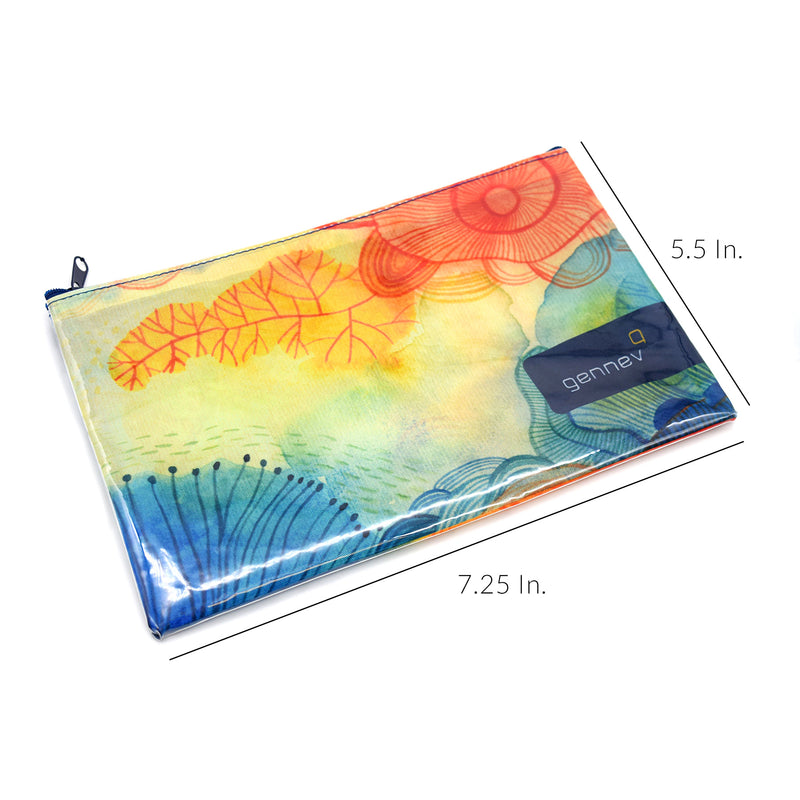 "7.25""W X 5.5""H Custom Printed Zippered Pouches"