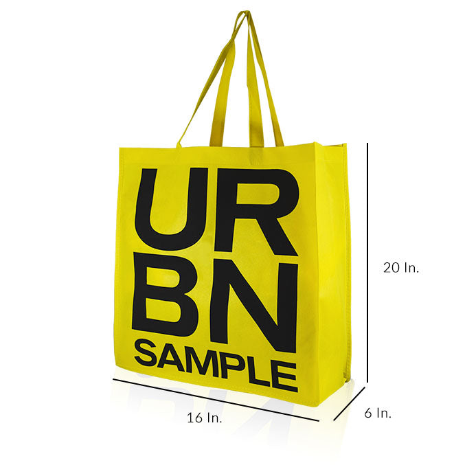 "Reusable Fabric Shopping Bags With Handles Custom Printing 80GSM PPNW - 16""W X 20""H X 6""D"