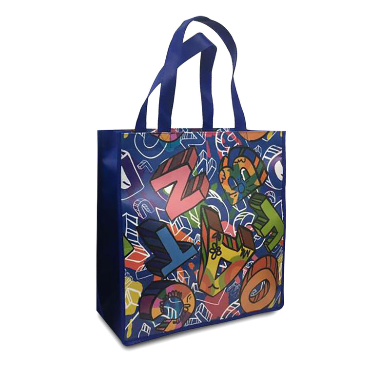 Custom Printed Laminated PP Non-Woven Shopping Bag 13x10x15x10