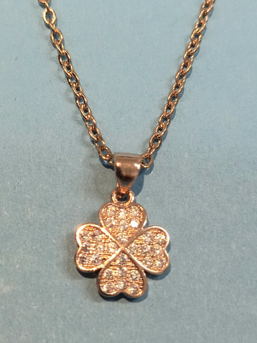 Rose Gold Four Leaf Clover Necklace