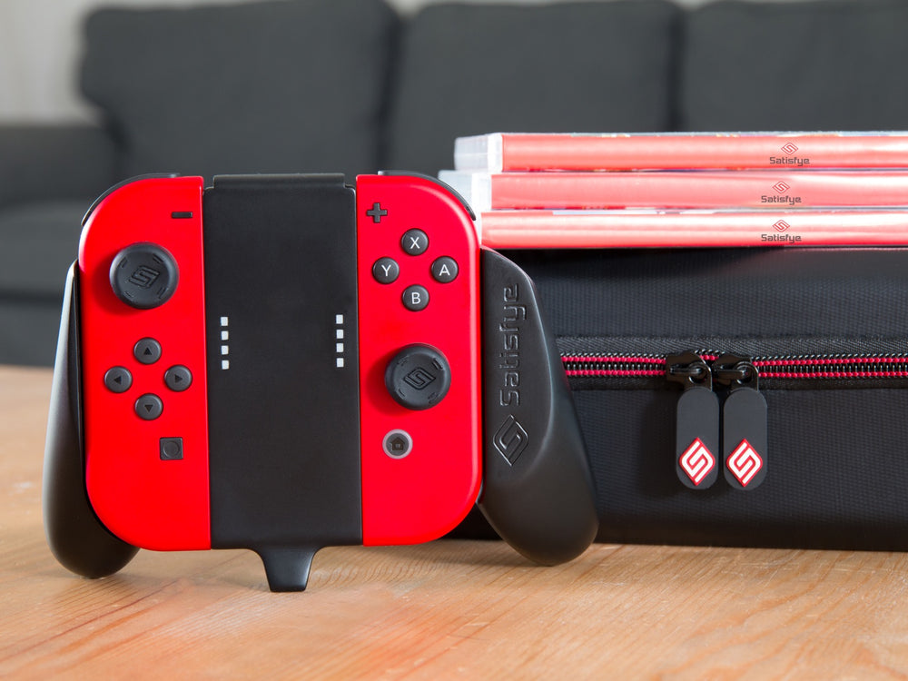 Satisfye mini gaming grip with built in stand for Nintendo Switch