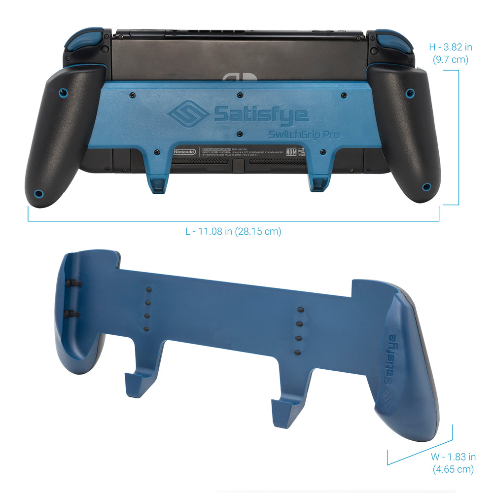 Satisfye's ergonomic and asymmetric gaming grip for the Nintendo Switch