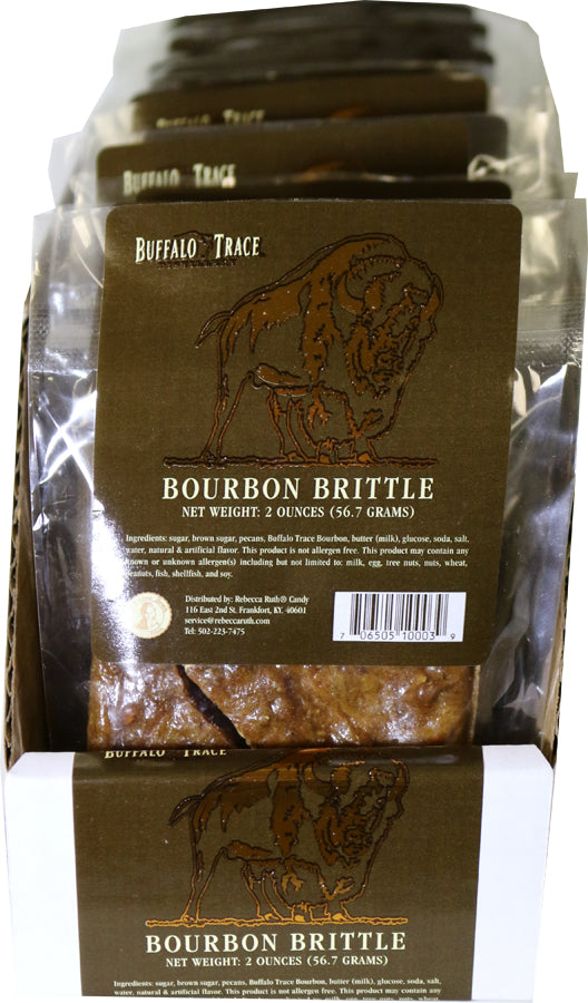 Buffalo Trace Bourbon Brittle 16 Count Sleeve of 2 oz Bags