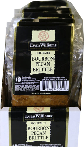 Evan Williams Single Barrel Bourbon Brittle 16 Count Sleeve of 2 oz Bags