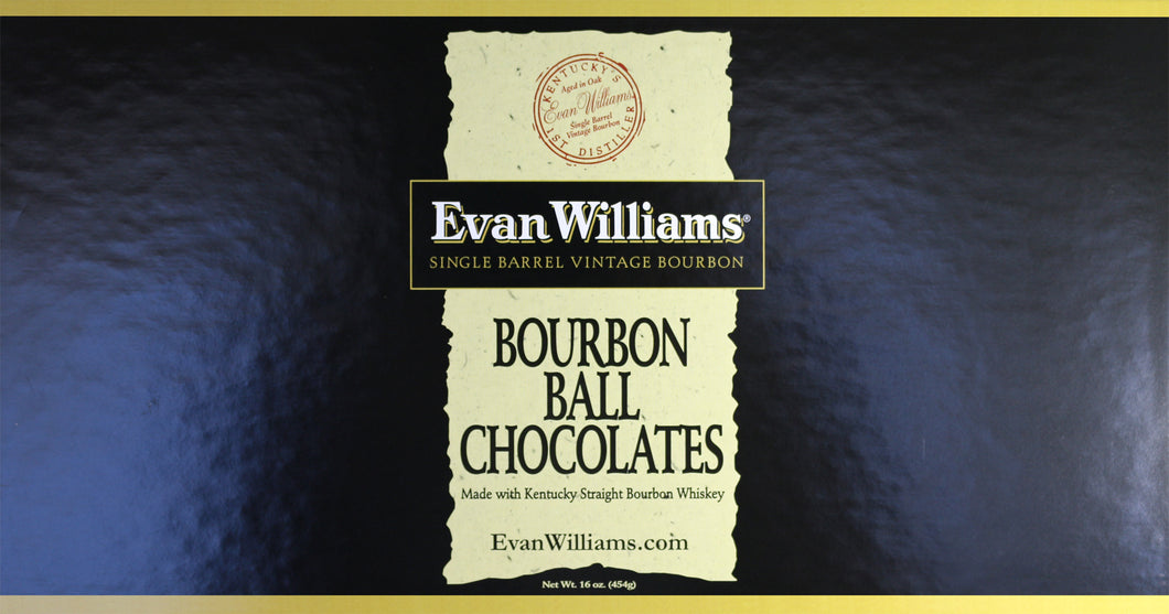 16 oz Evan Williams Single Barrel Bourbon Chocolates