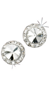 Rivoli Crystal Earrings 15MM