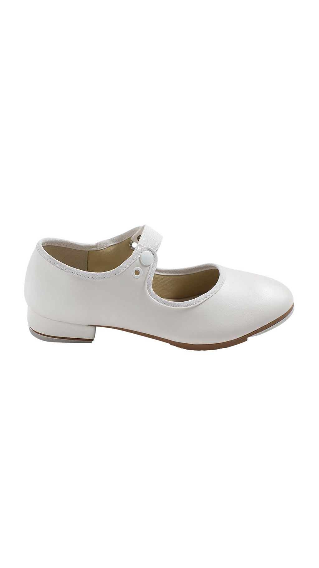 Val Tie and Snap Tap Shoe TA35-Child (White) | (ONLINE ONLY PRICING)
