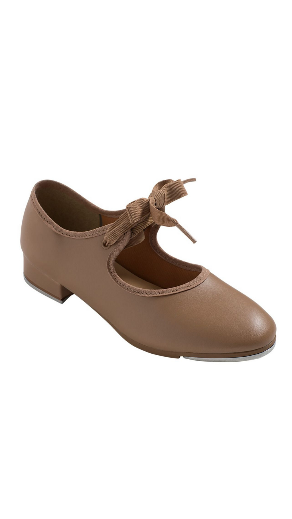 Val Tie and Snap Tap Shoe TA35-Child (Caramel)