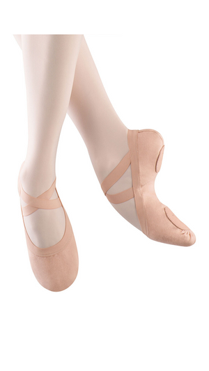 Pro Elastic Canvas Split-Sole Ballet Shoes S0621G-Child Pink