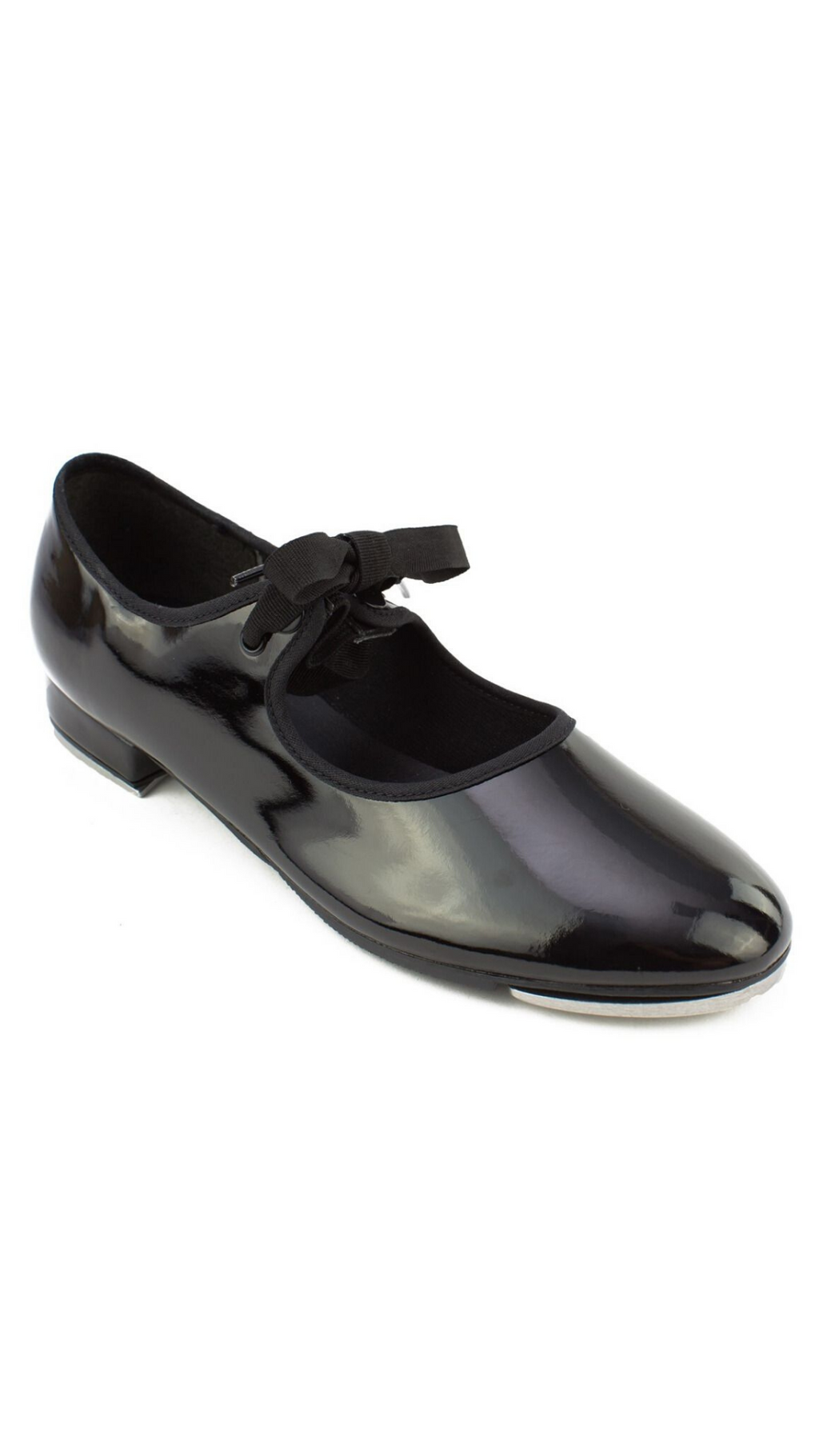 Val Tie and Snap Tap Shoe TA35-Child (Patent Black)