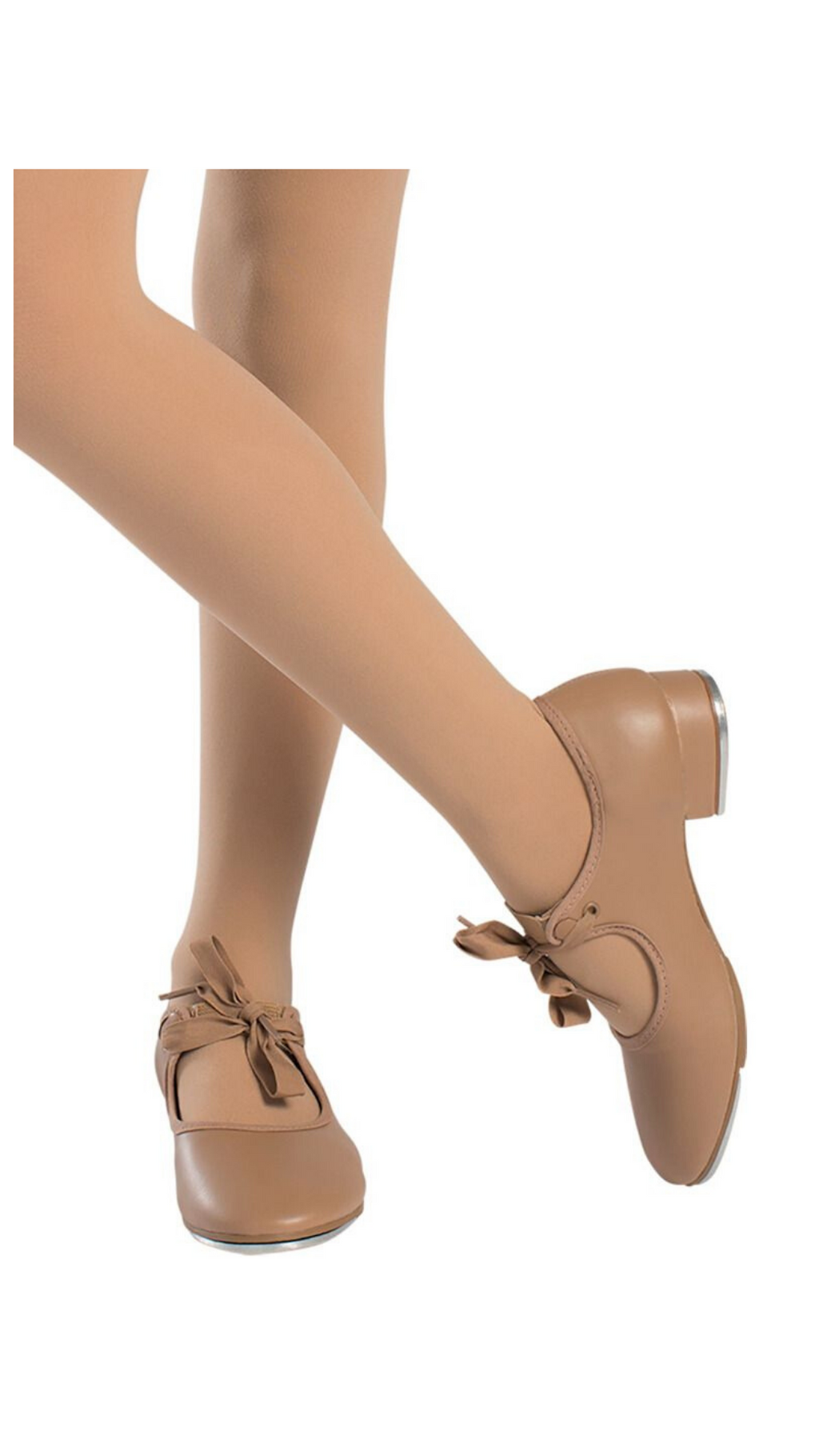 Val Tie and Snap Tap Shoe TA36-Adult (Caramel & Black)