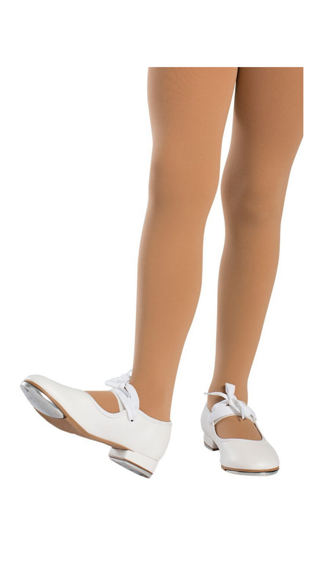 Val Tie and Snap Tap Shoe TA36-Adult (White) | (ONLINE ONLY PRICING)