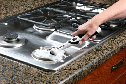 Sonic Scrubber cleaning stove