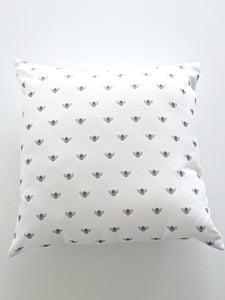 Small Bee happy Bee kind print cushion