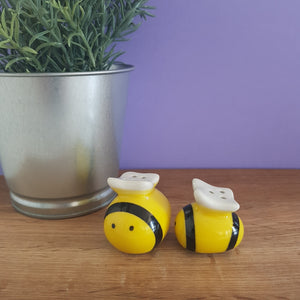 Bee Salt & Pepper Pots