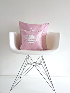 Pink Bee Cushion