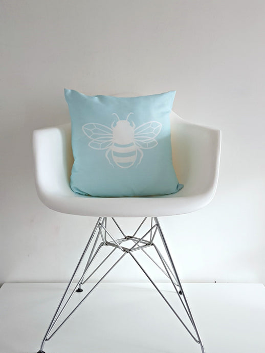 Baby Blue Bee happy Bee kind cushion