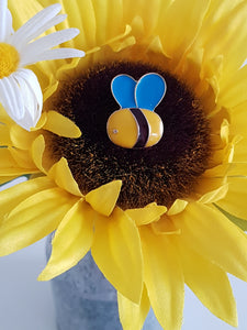 Bee happy Bee kind Ceramic Pin