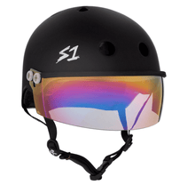 Matte Black Visor Helmet by S1