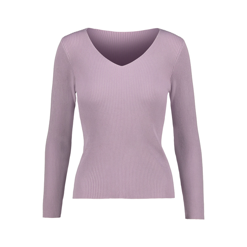 V Neck Long Sleeve Knit Top