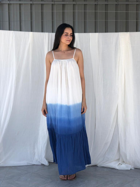 Tulum Dip Dye Indigo Dress