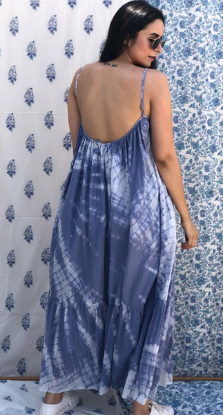Tulum Blue tye Dye Dress