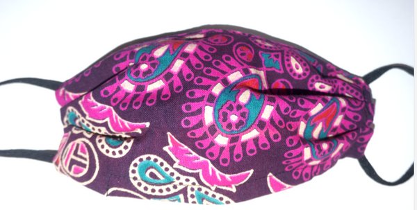 Paisley Flower Mask