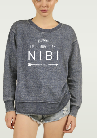 NIBI LOGO DARK NAVY SWEATSHIRT