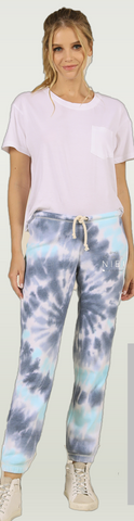 NIBI LOGO BURN OUT JOGGER- NAUTICAL SWIRL