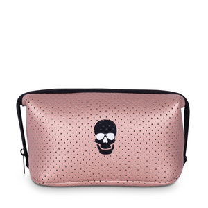 ROSE GOLD POUCH WITH SKULL