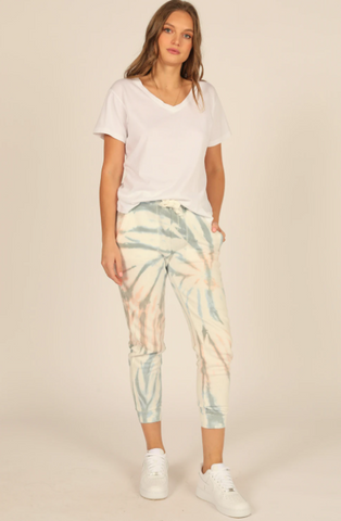 Nibi Breezy Beach Tie Dye Burnout Jogger