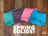 Spring Solids Shorties & Bummies