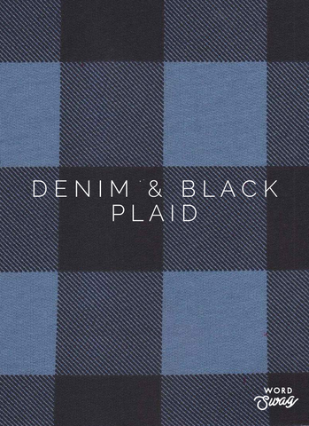Denim & Black Plaid Overalls $35+